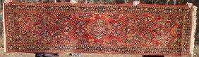 "2'8""x9'8"" Antique Persian Sarouk Oriental Runner"