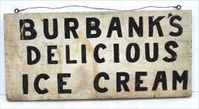 Great Ca 1920 American Pine Dbl Sided Ice Cream Trade