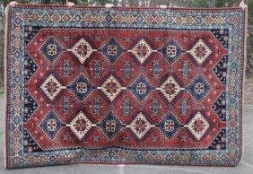 "6'8""x9'7"" Persian Shiraz Oriental Rm Size Rug"