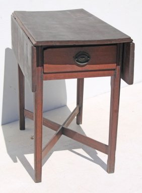 Rare Form Period Chippendale Ca 1770 Pa Walnut 1 Drawer