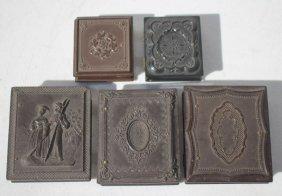Lot Of 5 Gutta Percha Cases - 1 W Gardening Theme - All