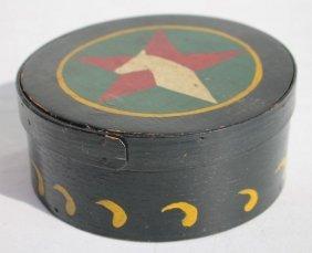 19thc Pa Ash & Pine Rare Orig Polychrome Paint Dec