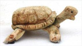 "Rare Lg Steiff Mohair ""snuggly Slo"" Turtle Child's Seat"