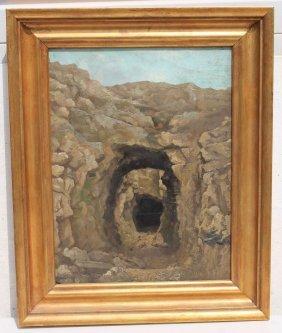 """Attrib Albert Bierstadt (1830-1902) 18""""x13 1/2"""" Oil On"""