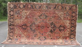 "Fine 8'8""x12'4"" Semi-antique Persian Heriz Oriental Rm"