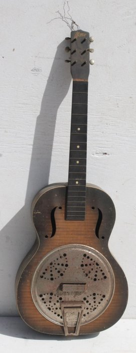 "Antique ""worco"" German Resonator Acoustic Guitar - As"
