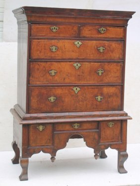 18thc Qa Period Mahog Unusual Form Chest On Chest - 59""