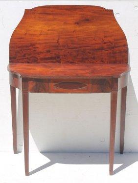 Period Hepplewhite Ca 1790-1810 Carved Mahog & Exotic