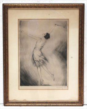 Rare Orig Sgnd Louis Icart Artist Proof Etching W