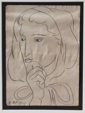 "Henri Matisse (1869-1954) Orig 10 1/2"" X 8 1/2"""