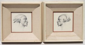Alexander Canedo (1902-1978) Pr Of Graphite Drawings Of