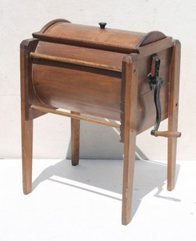 "Ca 1860 New England Pine Butter Churn Marked ""the"