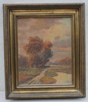 "Boris B. Major (1876-1951) 10""x8"" O/bd Autumn Landscape"