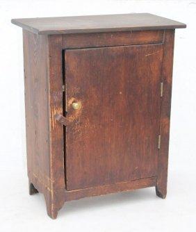 Ca 1840 New England Pine Rare Orig Spanish Brown