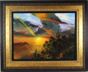 "Dale Terbush (1948) 30""x40"" Acrylic Sunset"