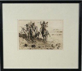 "Edward Borein 7.75""x11.75"" Etching - Sioux Chief"