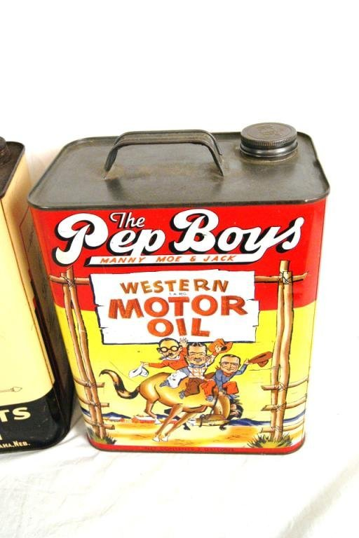 118 Vintage Oil Can Collection Pep Boys 1950 39 S Lot 118