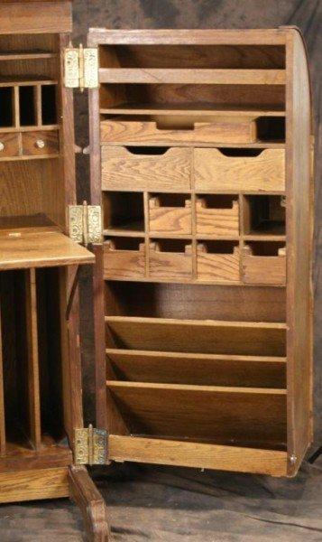 84 Wooten Reproduction Oak Desk Cabinet Doors Lot 84