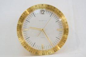 Round Brass Tiffany & Co. World Clock