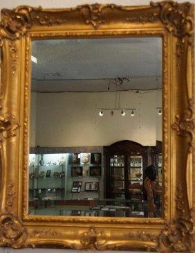 Beveled Ornate Gilt Frame Mirror