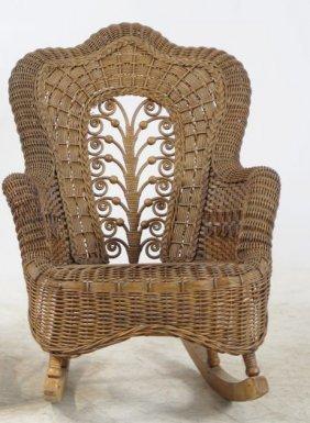 Child's Victorian Wicker Rocking Chair