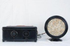 Atwater Kent Tabletop Tube Radio W/ Speaker