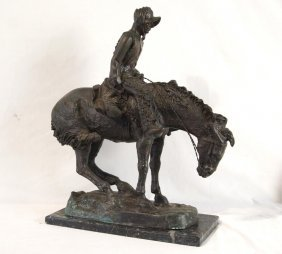 After Frederic Remington Bronze Sculpture 'norther