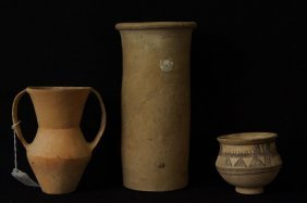Three Ancient Chinese Neolithic Vases