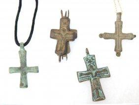 Byzantine Crosses - 1 Reliquary ( 4pcs) 700-1200ad