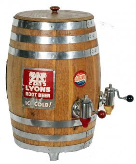 ROOT BEER ADVERTISING BARREL