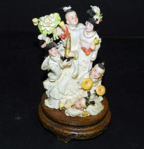 Antique Carved Ivory Wedding Party