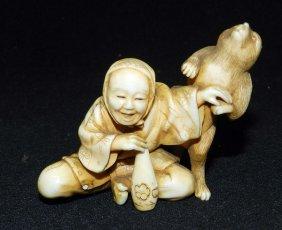 Antique Carved Ivory Figure