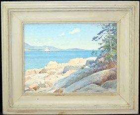 A.b. Warren Watercolor: Rocky Coastline