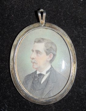 19th Century Miniature Portrait Of A Gentleman
