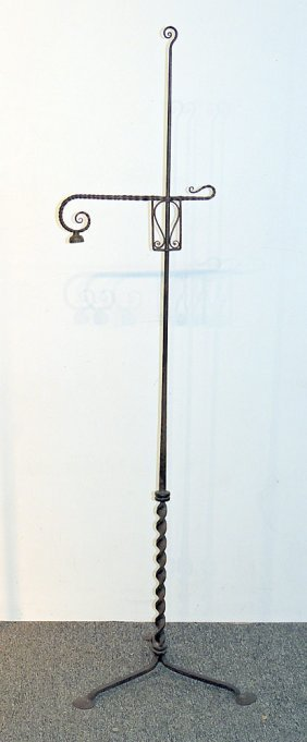 Samuel Yellin Adjustable Floor Lamp