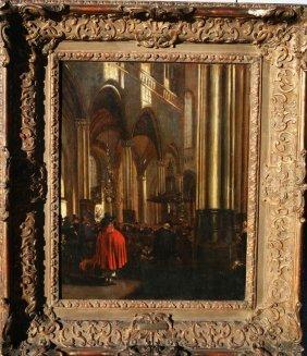 Emanuel Witte, Dutch (1617-1692) Oil/Panel