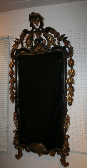 Rococco Antique French Carved Wood Mirror
