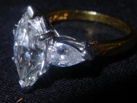 GIA Certified Brilliant Cut Large Diamond Ring