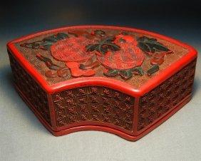 19thc. Cinnabar Trinket Box