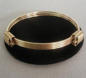 14KYG Tiffany Ladies Bangle Bracelet