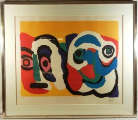 Karel Appel, Lithograph In Color