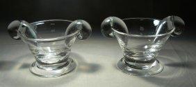 Two Steuben Sugar Bowls