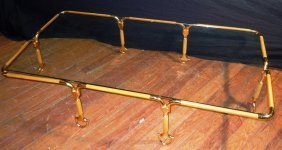 Rare Gucci Bronze & Glass Coffee Table