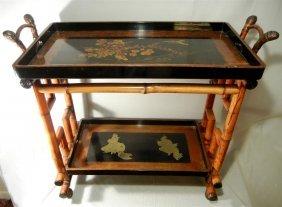 Bamboo & Lacquer Teacart