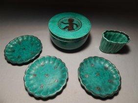 Gustavberg Argenta Swedish Pottery (5 Pieces)