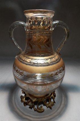 Crystal & Bronze Mounted Vase