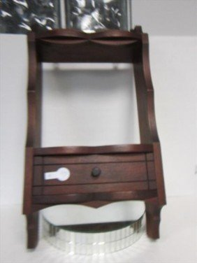 Wood Shelf With Draw