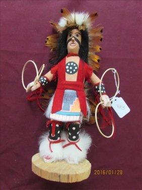 American Indian Kachina Doll Hoop Dancer By J. Bennett