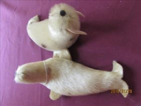 Pair Of Hand Made In Alaska Male And Female Walrus