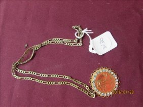 1943 Walking Liberty Clad - 925 Sterling Chain Necklace